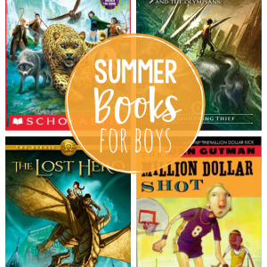 Great Summer Books for Boys-This summer reading ideas for boys are kid tested and approved as great books to read this summer! #summer #summerreading #boys #kids