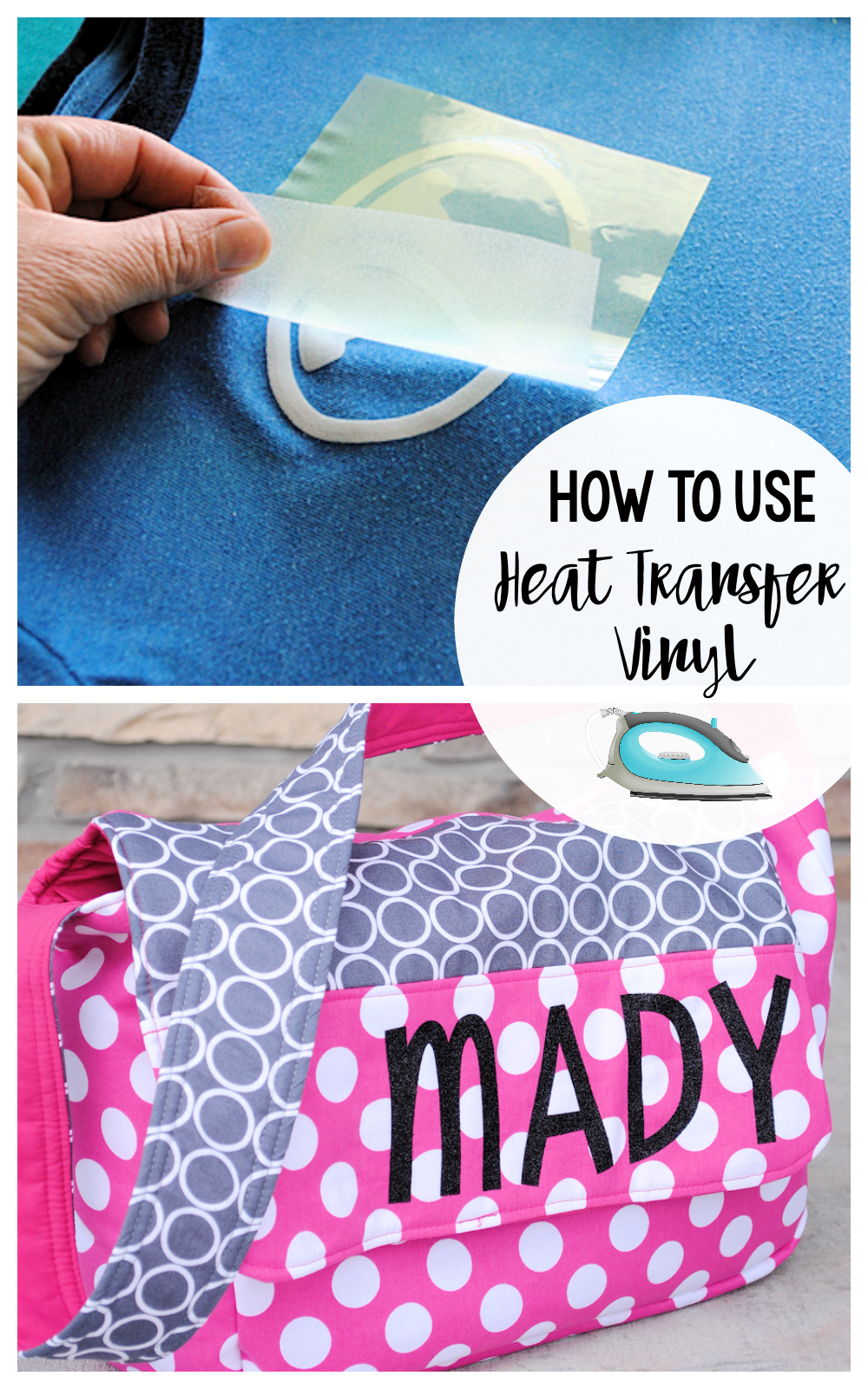 A Step by Step Guide of How to Use Heat Transfer Vinyl-Add it to your projects to personalize and customize them! #howto #vinyl #heattransfervinyl #crafts