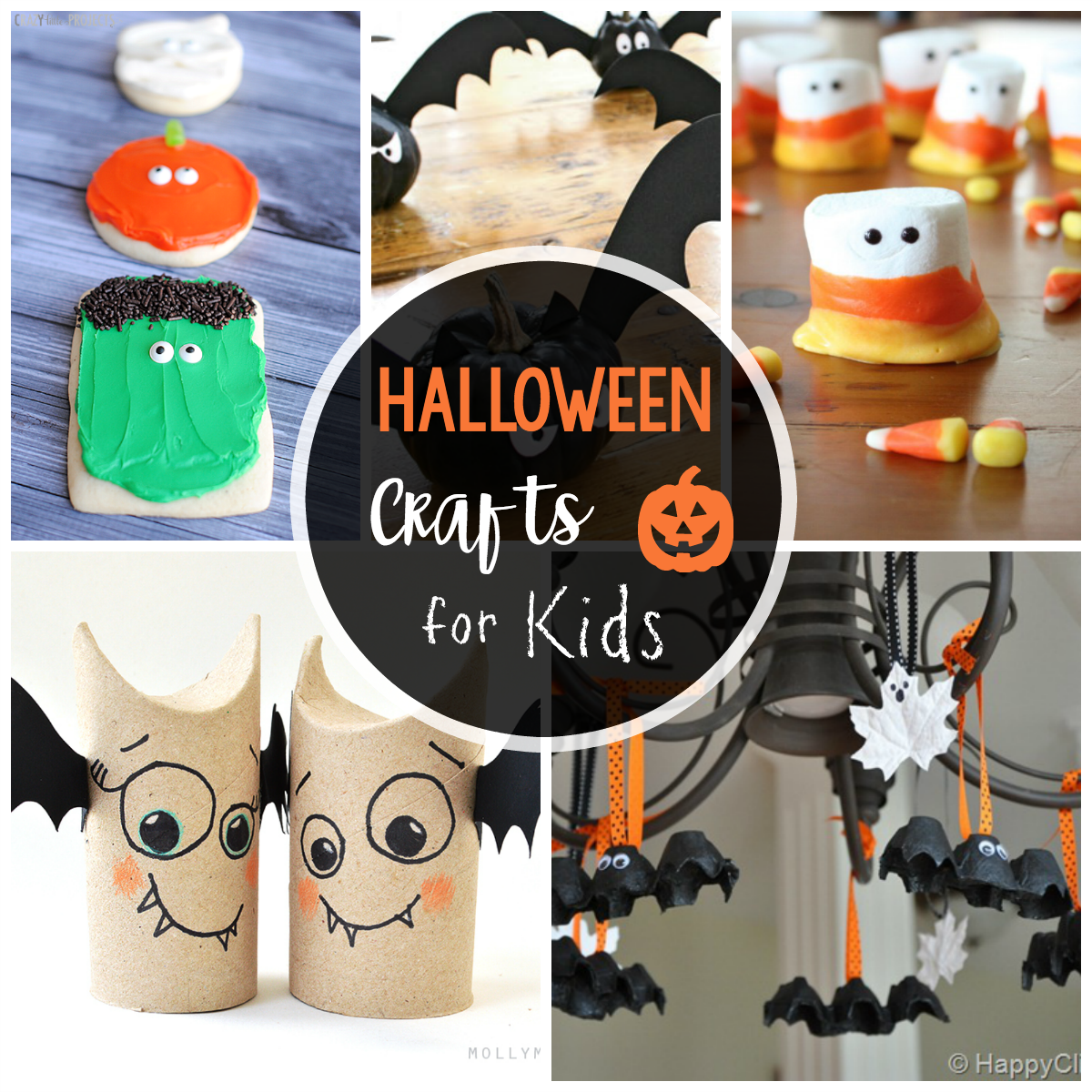 25 cute & easy halloween crafts for kids - crazy little projects