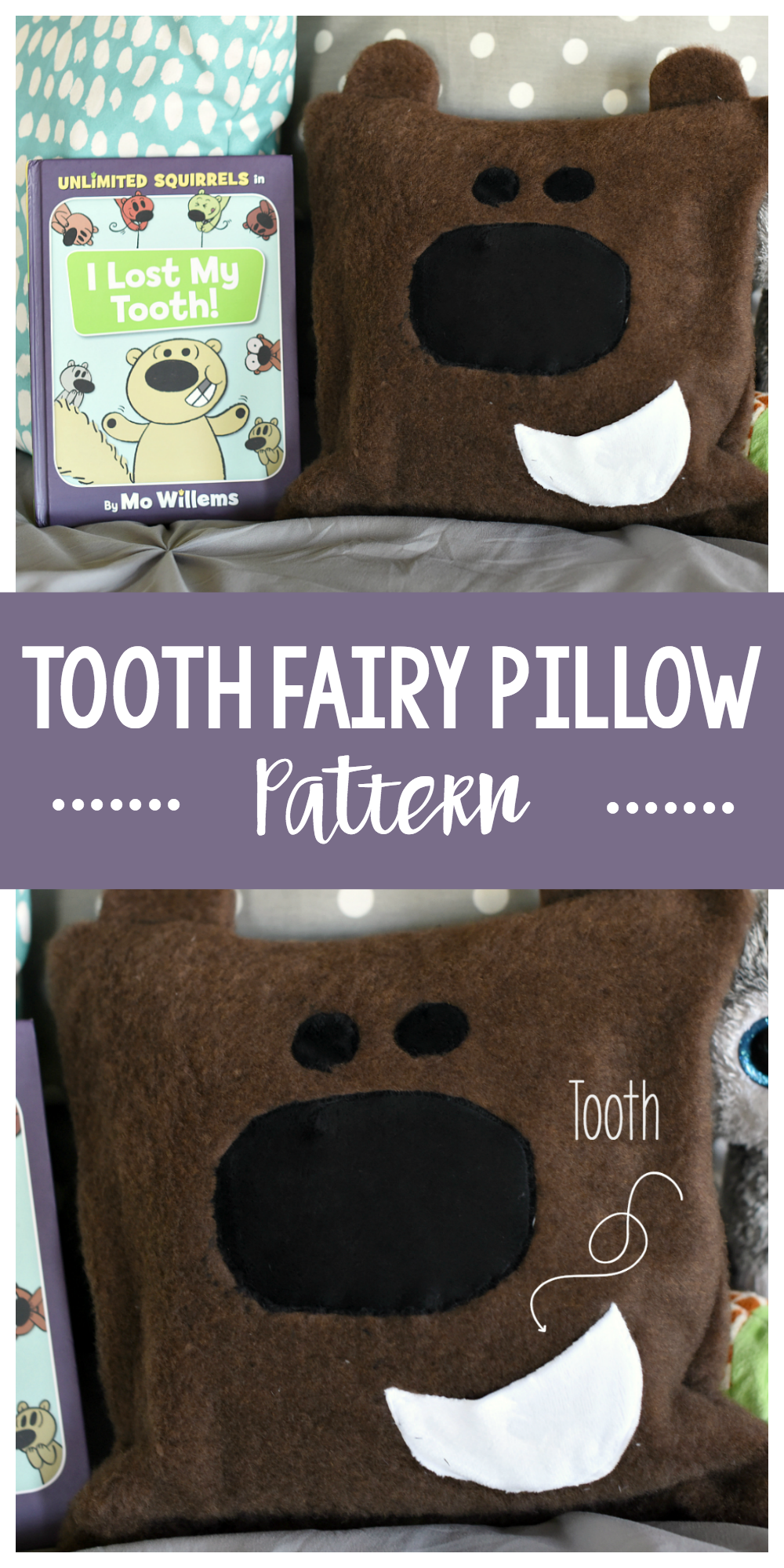 Cute Tooth Fairy Pillow Pattern to Sew for Kids