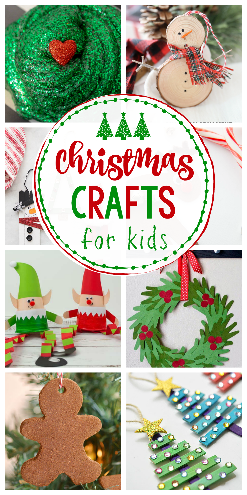 25 Easy Christmas Crafts for Kids-These ideas are great for kid's Christmas parties or just to try at home. The kids will love trying these Christmas craft ideas. #christmascrafts #crafts