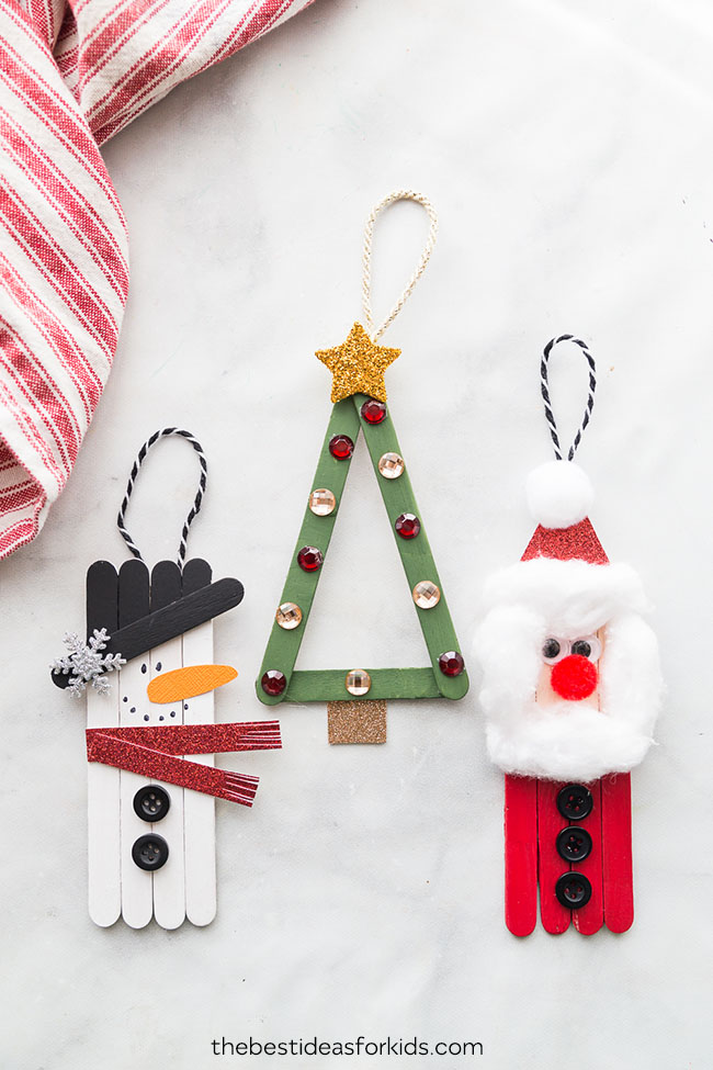 25 Easy Christmas Crafts For Kids Crazy Little Projects