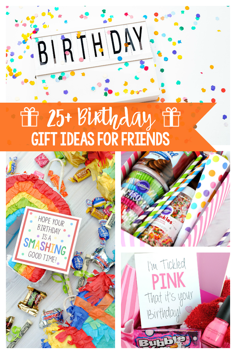 25 Birthday Gift for Friends-These fun gifts are the best gift ideas to give to friends for their birthday! #birthdaygifts #birthday #gifts