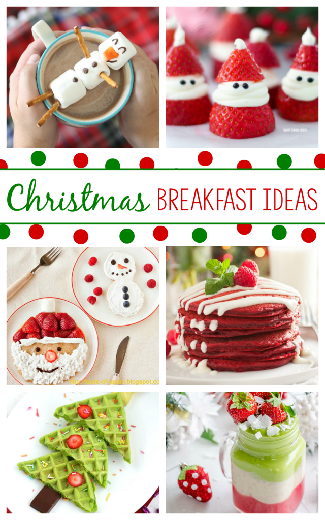 Christmas Breakfast Ideas that are fun for kids and perfect for Christmas brunch, Christmas morning, Elf on the Shelf welcome breakfasts or any fun breakfast you are planning this holiday season! #christmas #holidays #christmasfood #holidayfood #breakfast