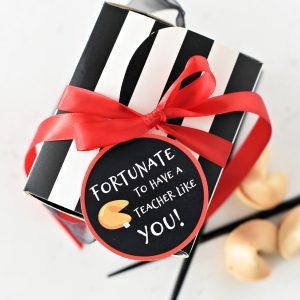 Simple Teacher Appreciation Gift Idea: Fortunate to Have a Teacher Like You!