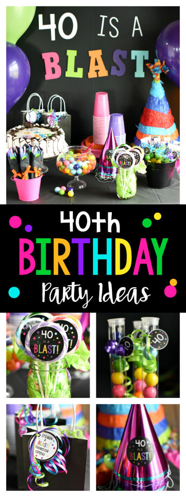 40th Birthday Party Ideas: This fun 40th birthday party is a blast! Invitations, games, decor, food and more ideas for your party.