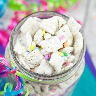 Cake Batter Muddy Buddies Recipe
