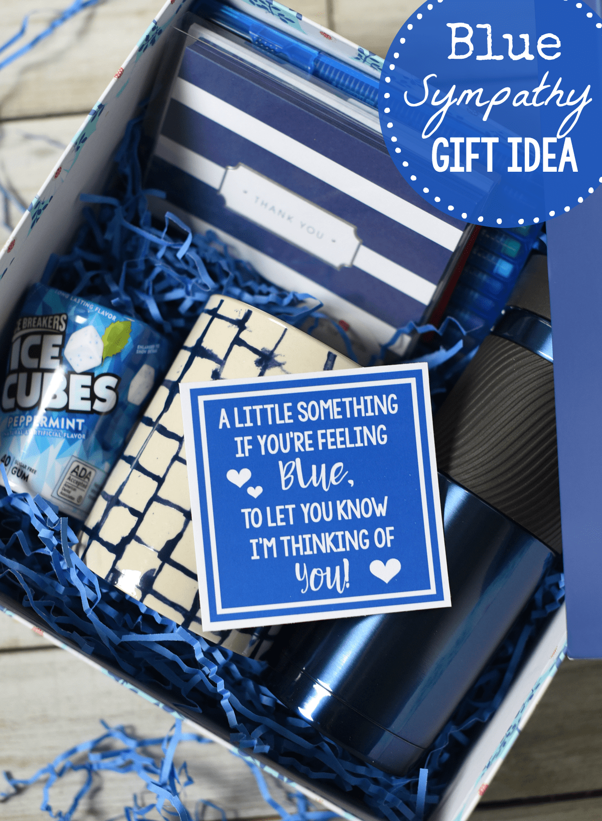 Blue-Themed Unique Sympathy Gift