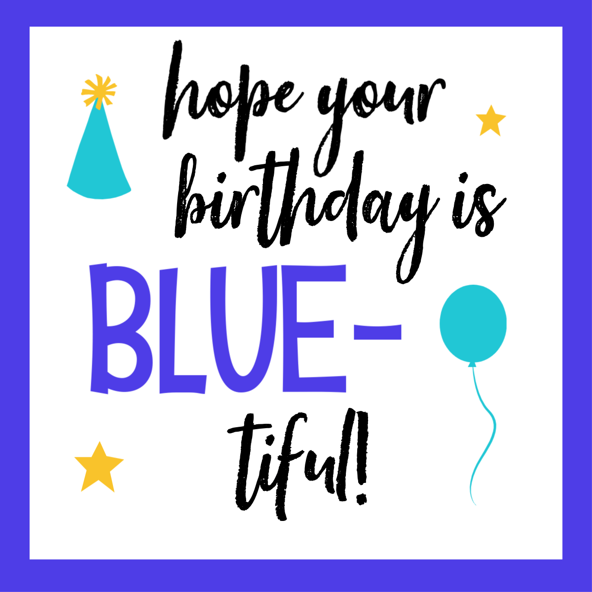 Blue Birthday Gift Tags