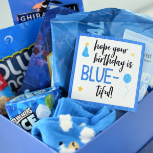 Blue Birthday Gift Idea