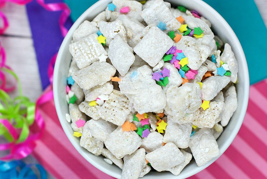 Birthday Cake Muddy Buddies