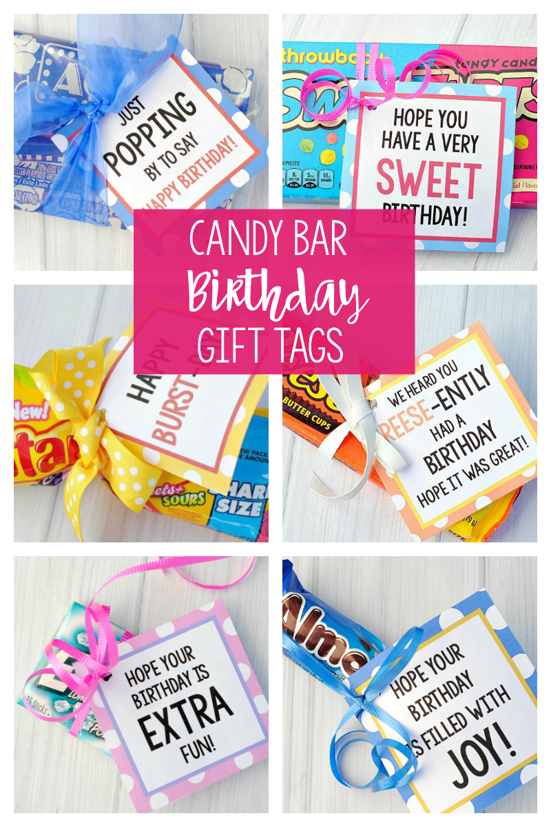 Candy Bar Birthday Gift Tags for Friends
