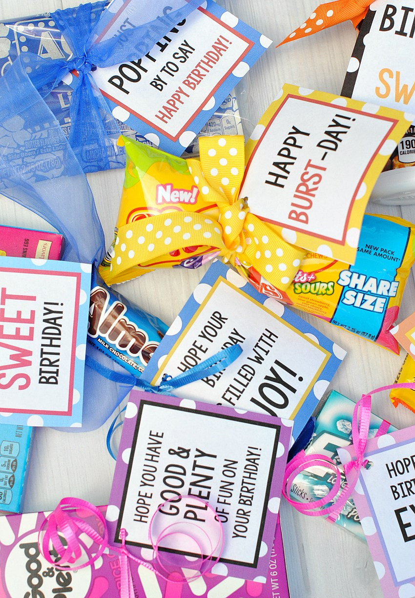 Candy Bar Sayings for Cute and Easy Birthday Gifts