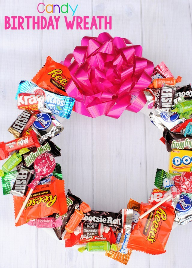 Candy Birthday Wreath