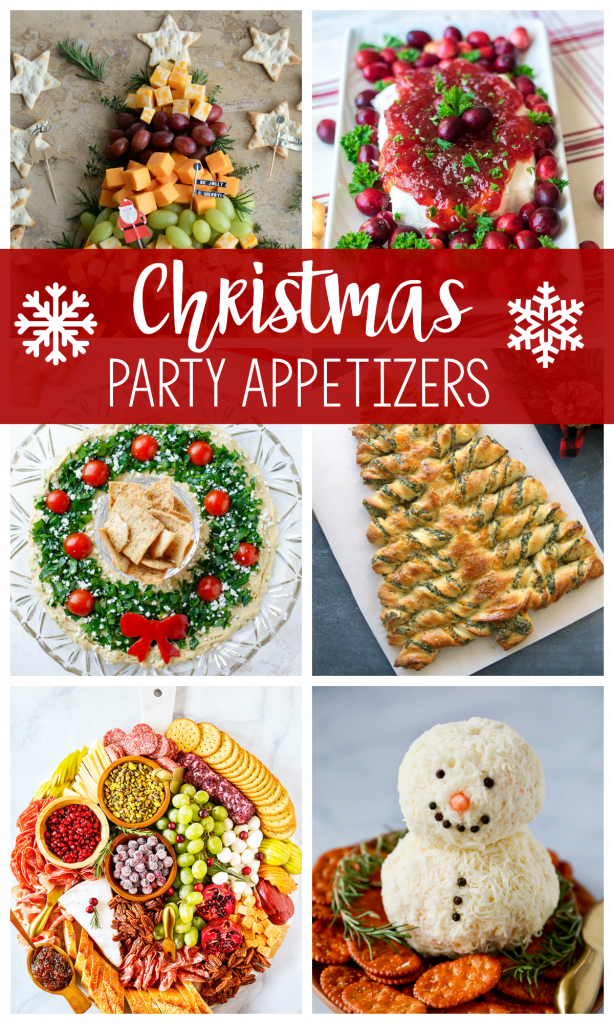 Christmas Party Appetizers for all of your holiday parties
