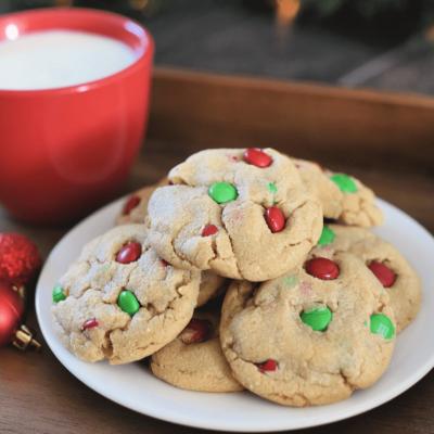 Peanut Butter Christmas Cookies