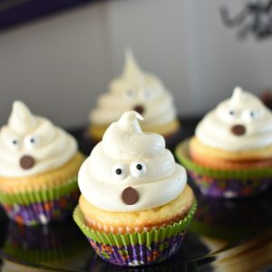 Cute and Easy Ghost Cupcakes