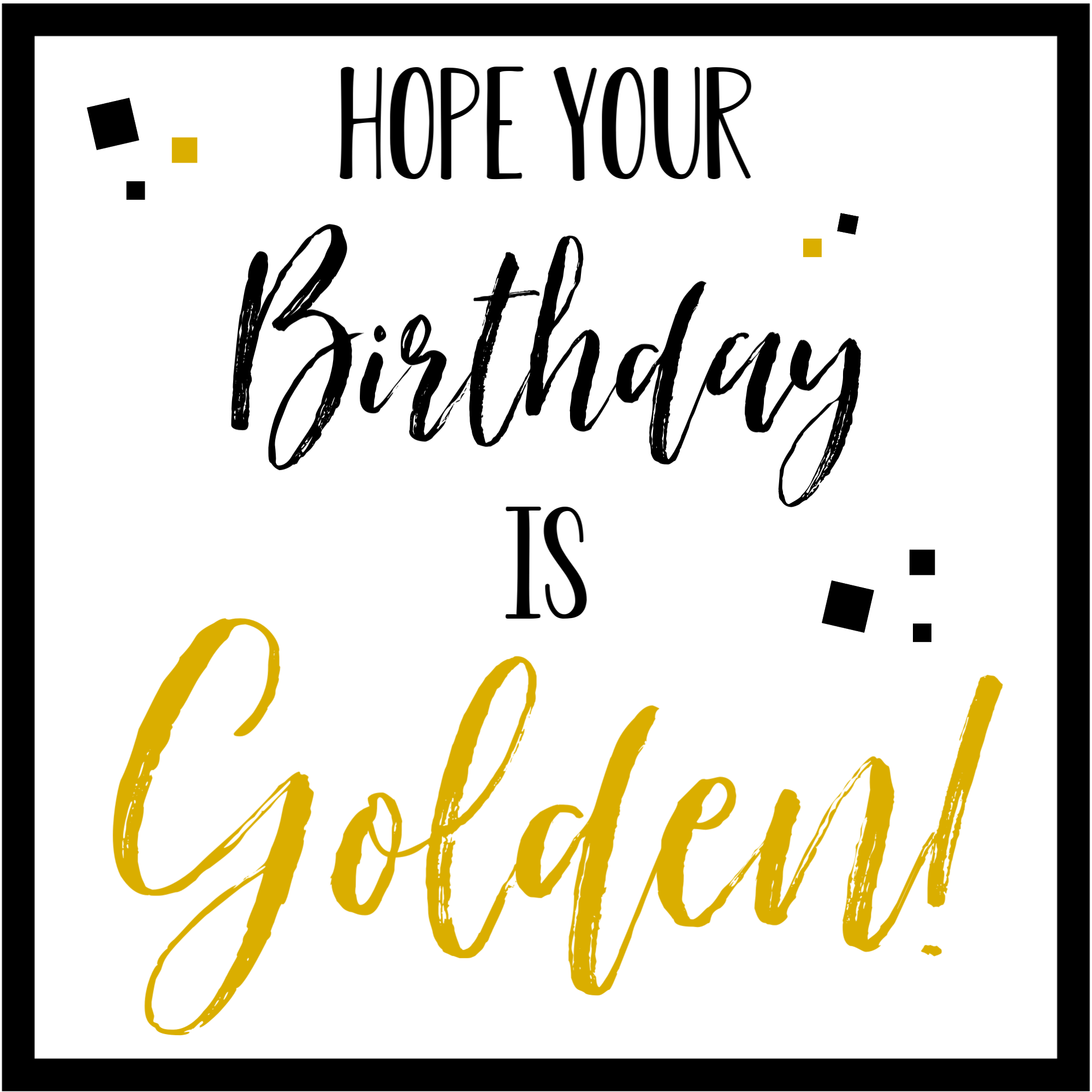 Golden Birthday Gift Tag