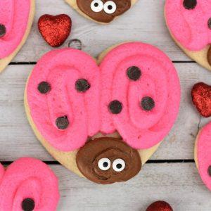 Love Bug Valentine's Cookies