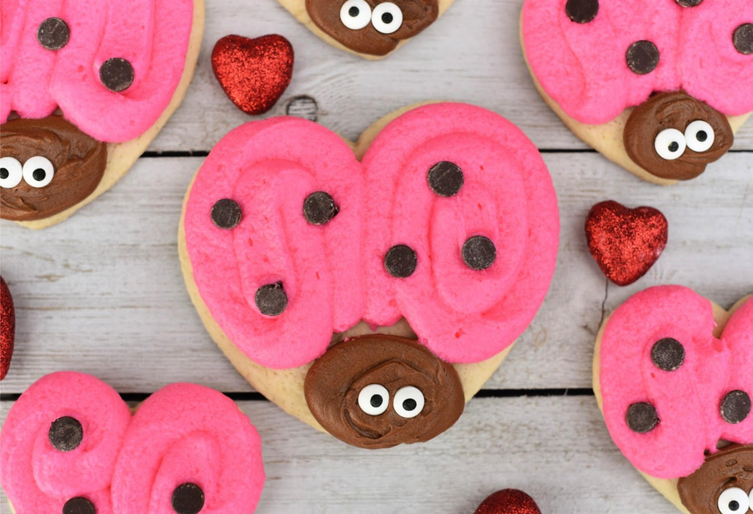 Love Bug Valentine's Cookies