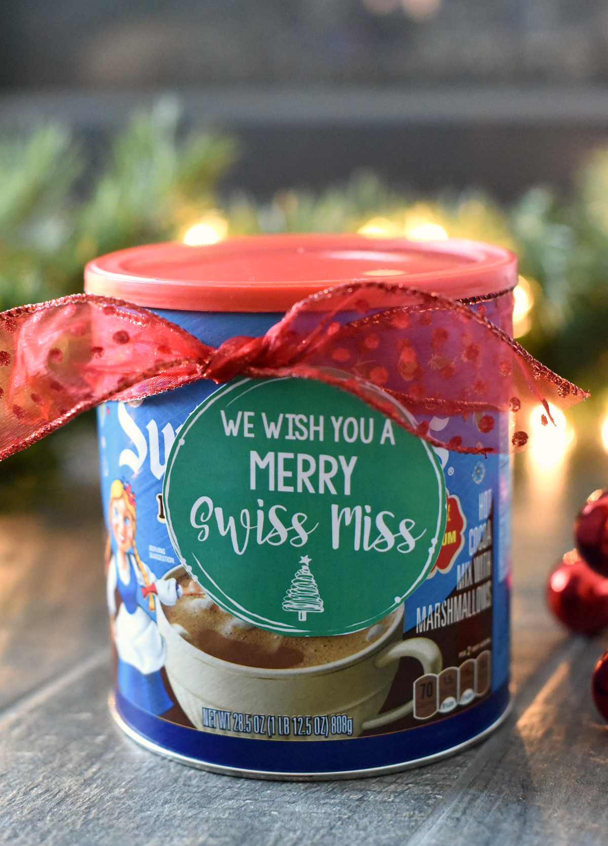Merry Swiss Miss Hot Chocolate Neighbor Gift Idea