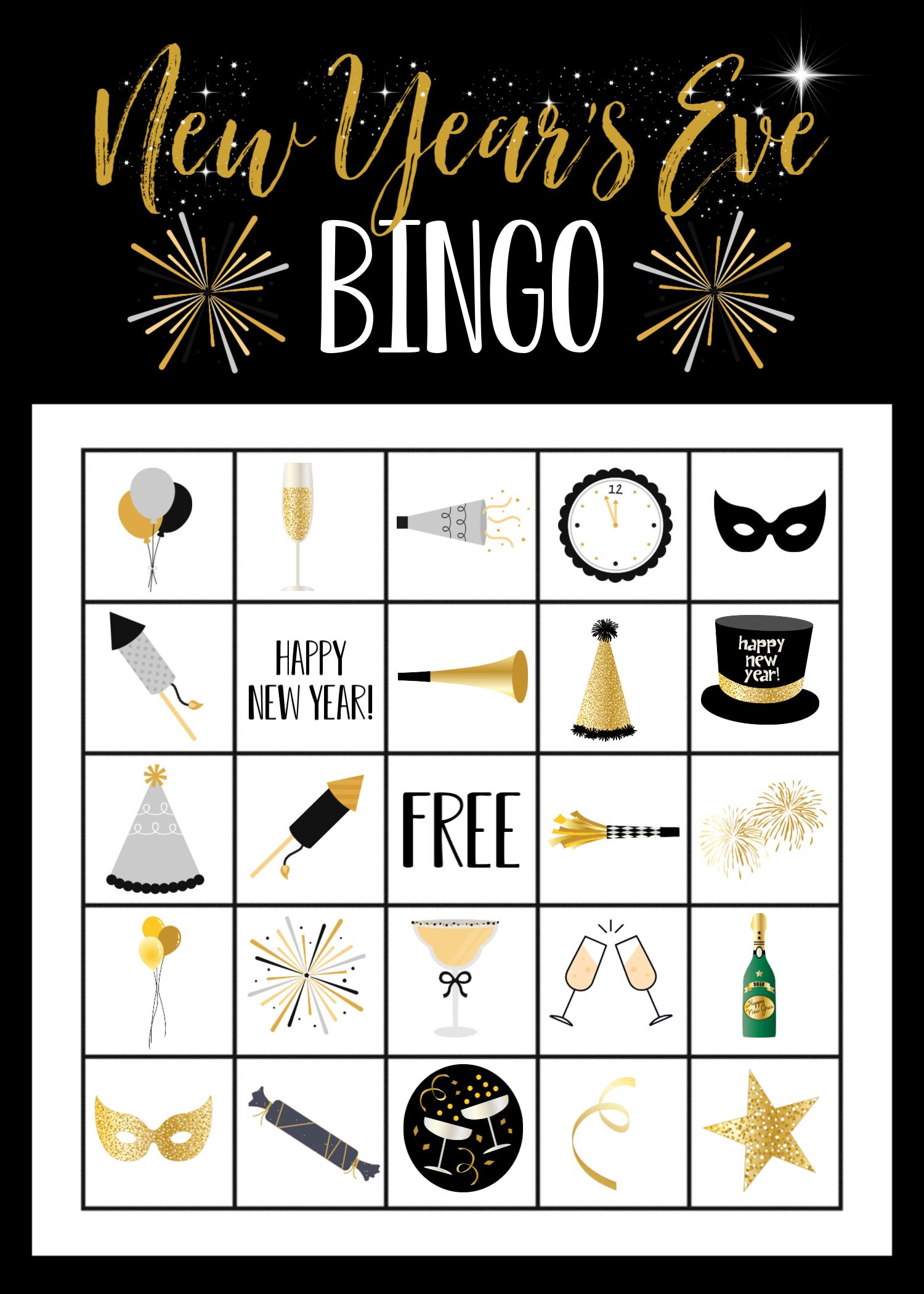 NYE Bingo Game