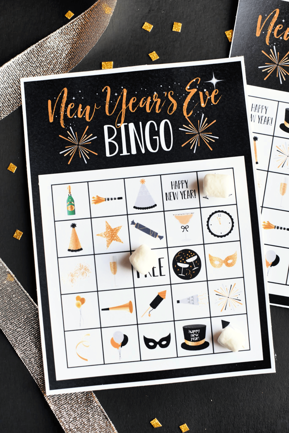 New Year's Eve Bingo Game to Print and Play