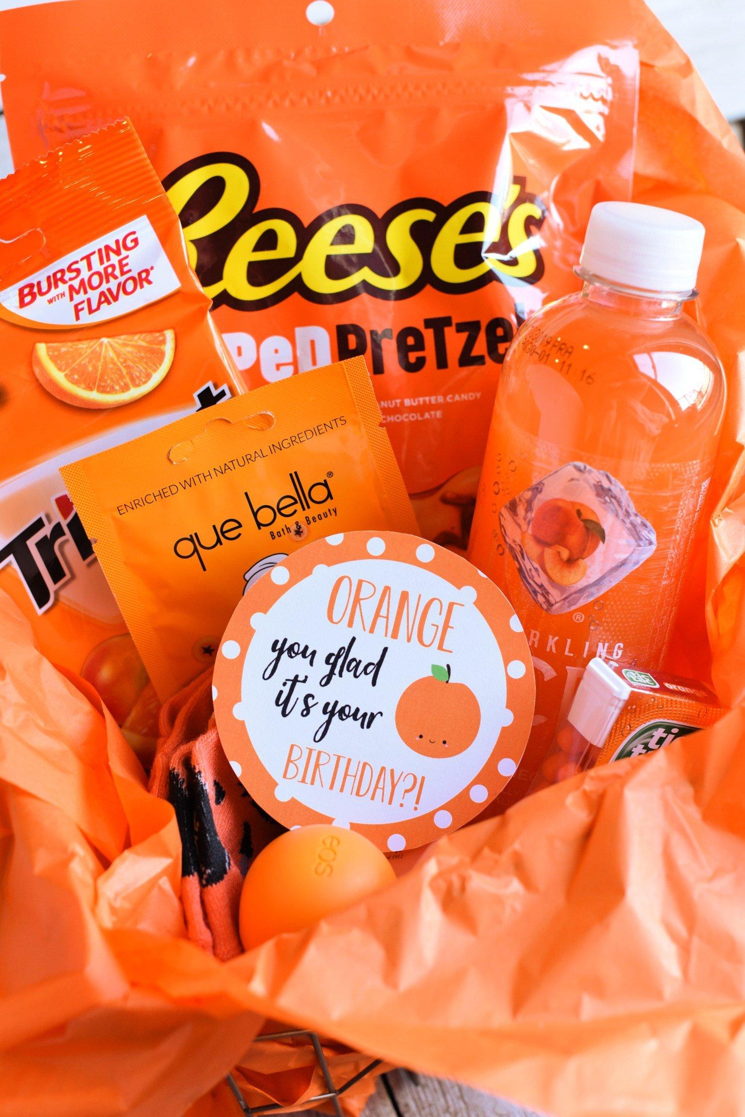 Orange Birthday Gift Idea