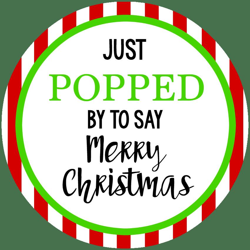 Pop Christmas Neighbor Gift Tags