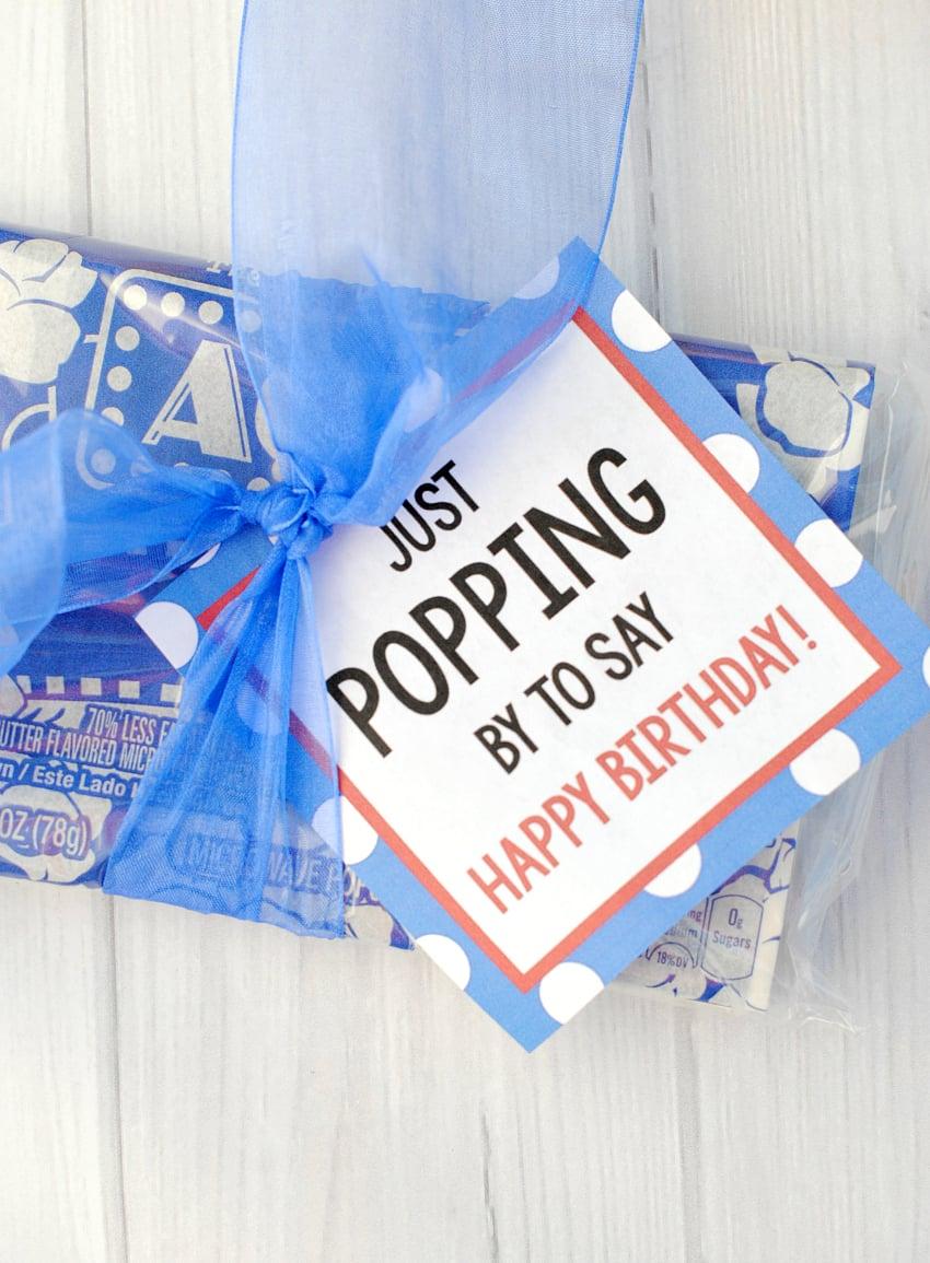 Popcorn Birthday Gift
