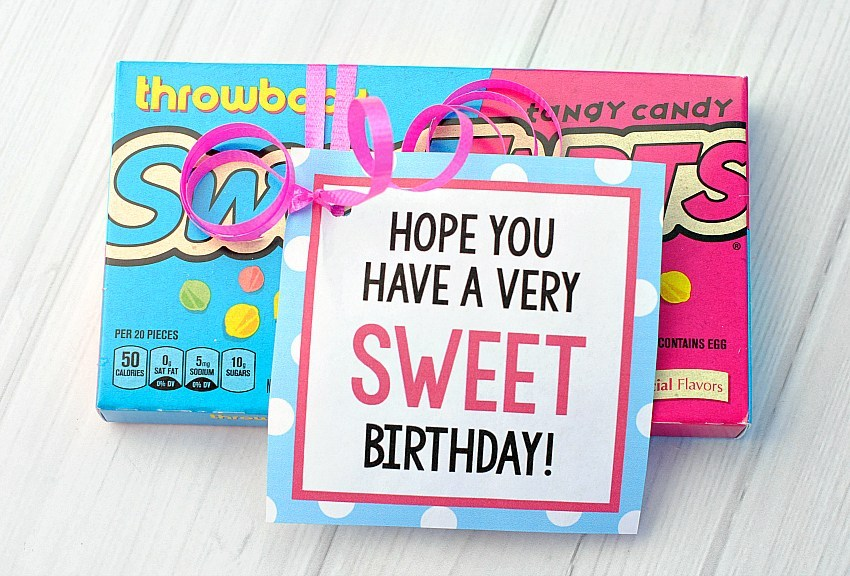 Sweet Birthday Gift Tag