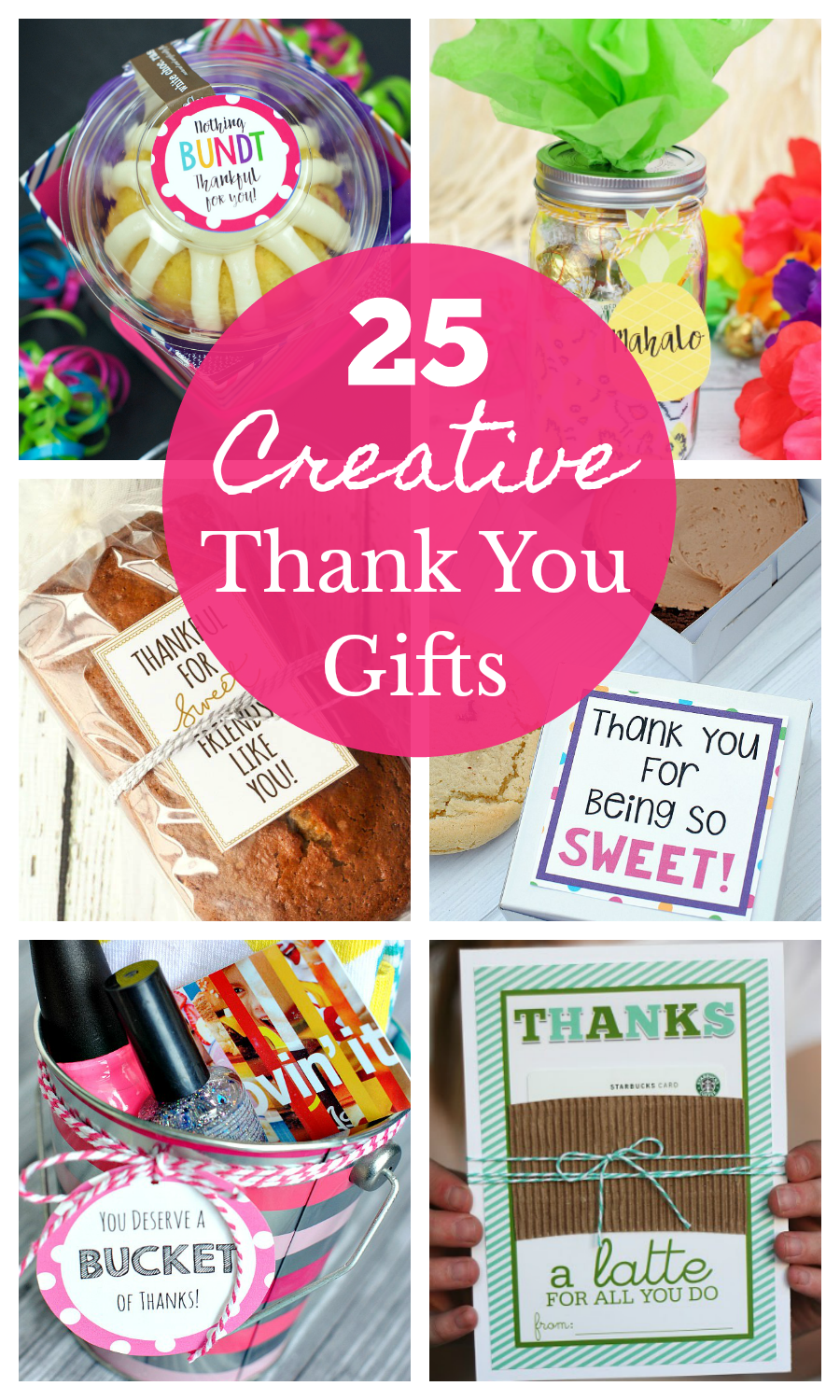 25 Cute and Creative Thank You Gift Ideas to use for any occasion