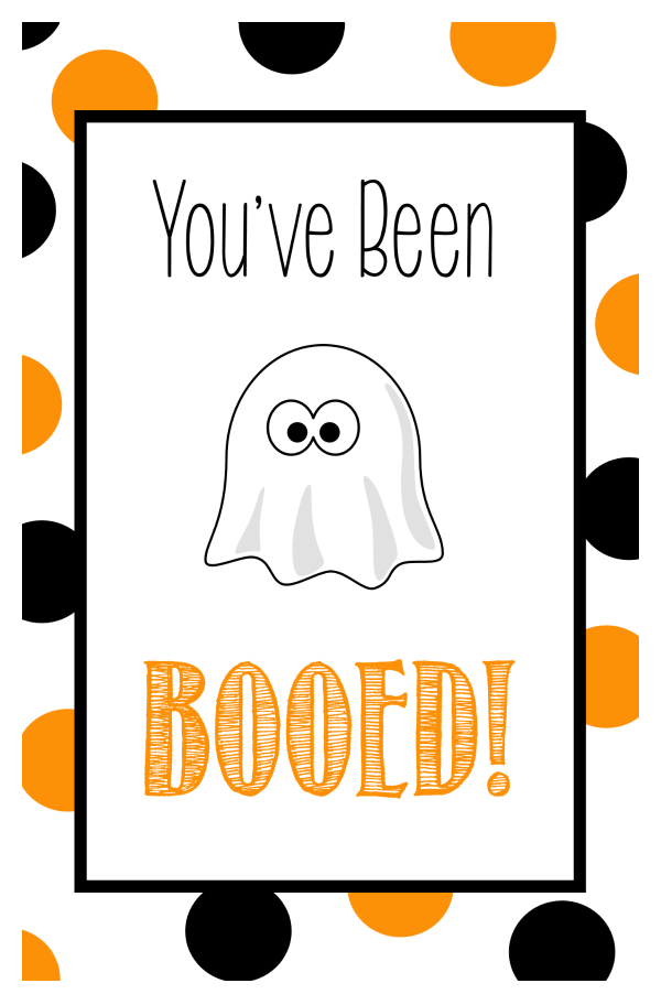 Boo Tags for Halloween