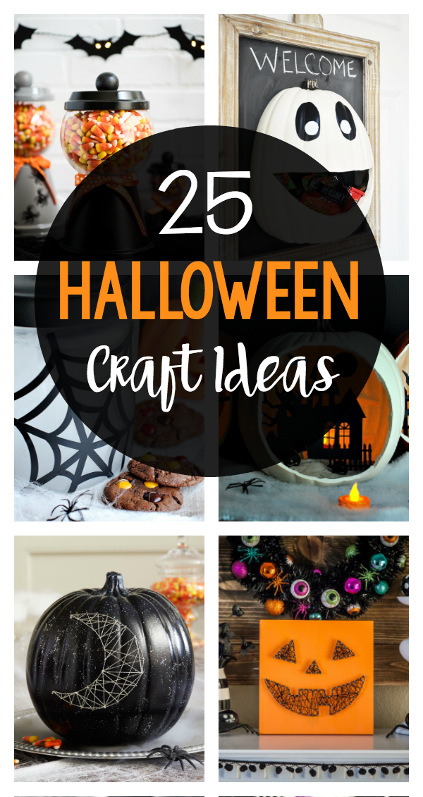 25 Fun Easy Halloween Crafts Crazy Little Projects