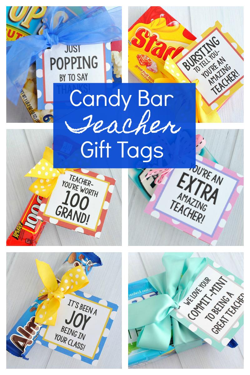 Easy Candy Bar Teacher Gifts