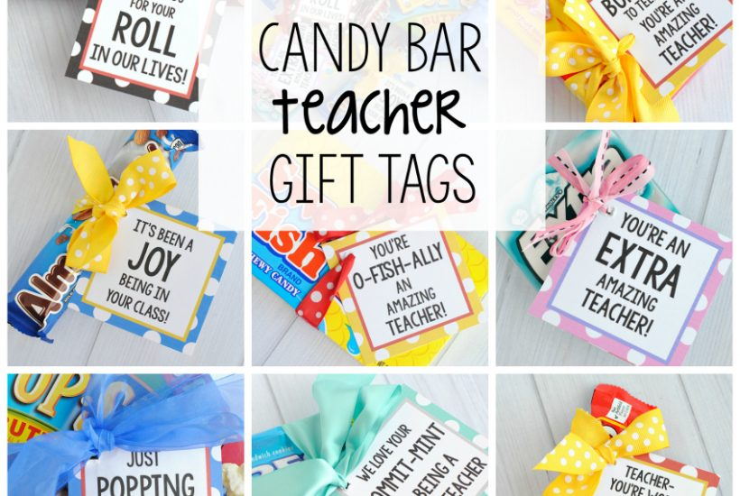 Candy Bar Saying Teacher Appreciation Gifts