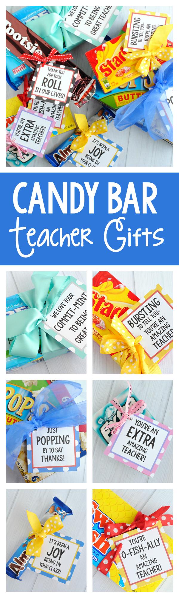 Easy Candy Bar Teacher Appreciation Gift Ideas
