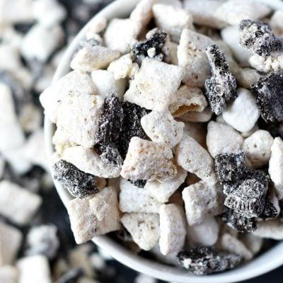Muddy Buddies Cookies and Cream