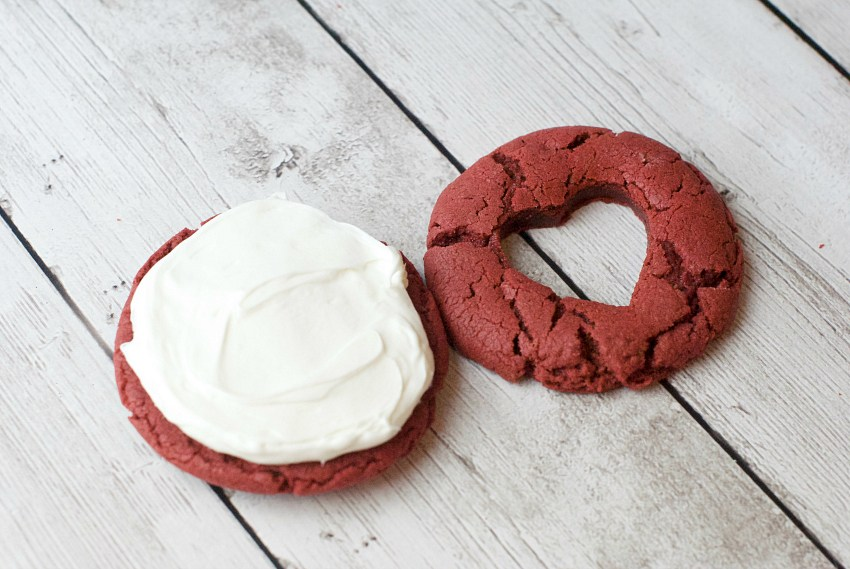 Make red velvet cookies
