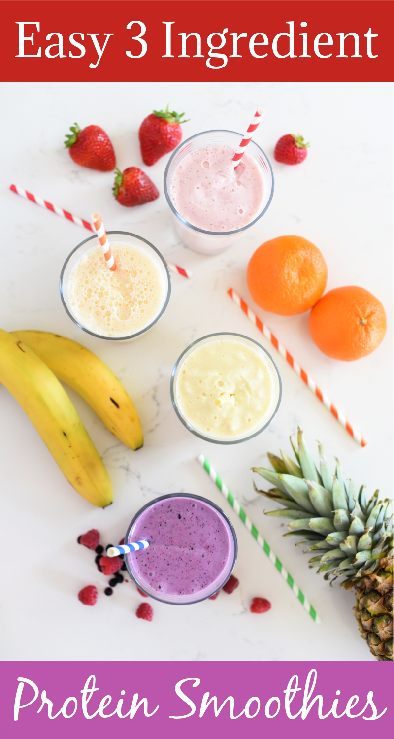 Easy Kid Approved Protein Smoothie Recipes-Only 3 Ingredients!