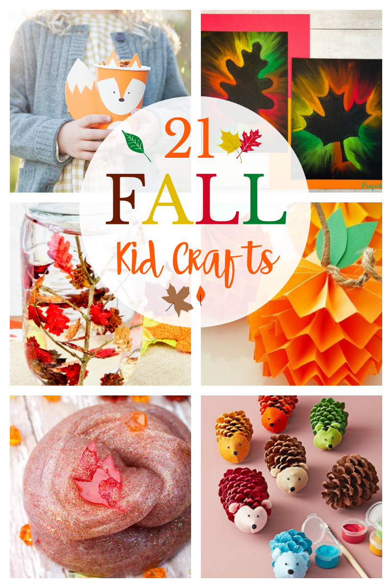 21 Fun Fall Crafts for Kids: Apples, leaves, pumpkins, owls, you're going to love these Autumn craft ideas