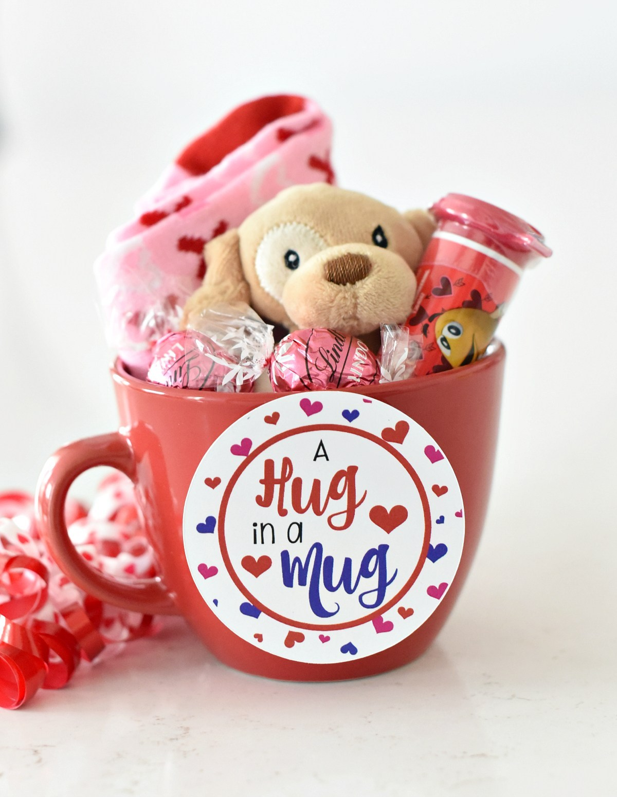 Hug In A Mug Valentine S Gift For Kids Crazy Little Projects