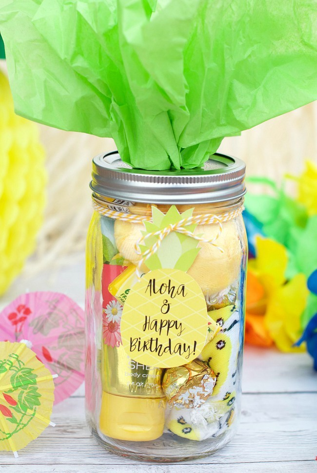 Pineapple Themed Birthday Gift Crazy Little Projects