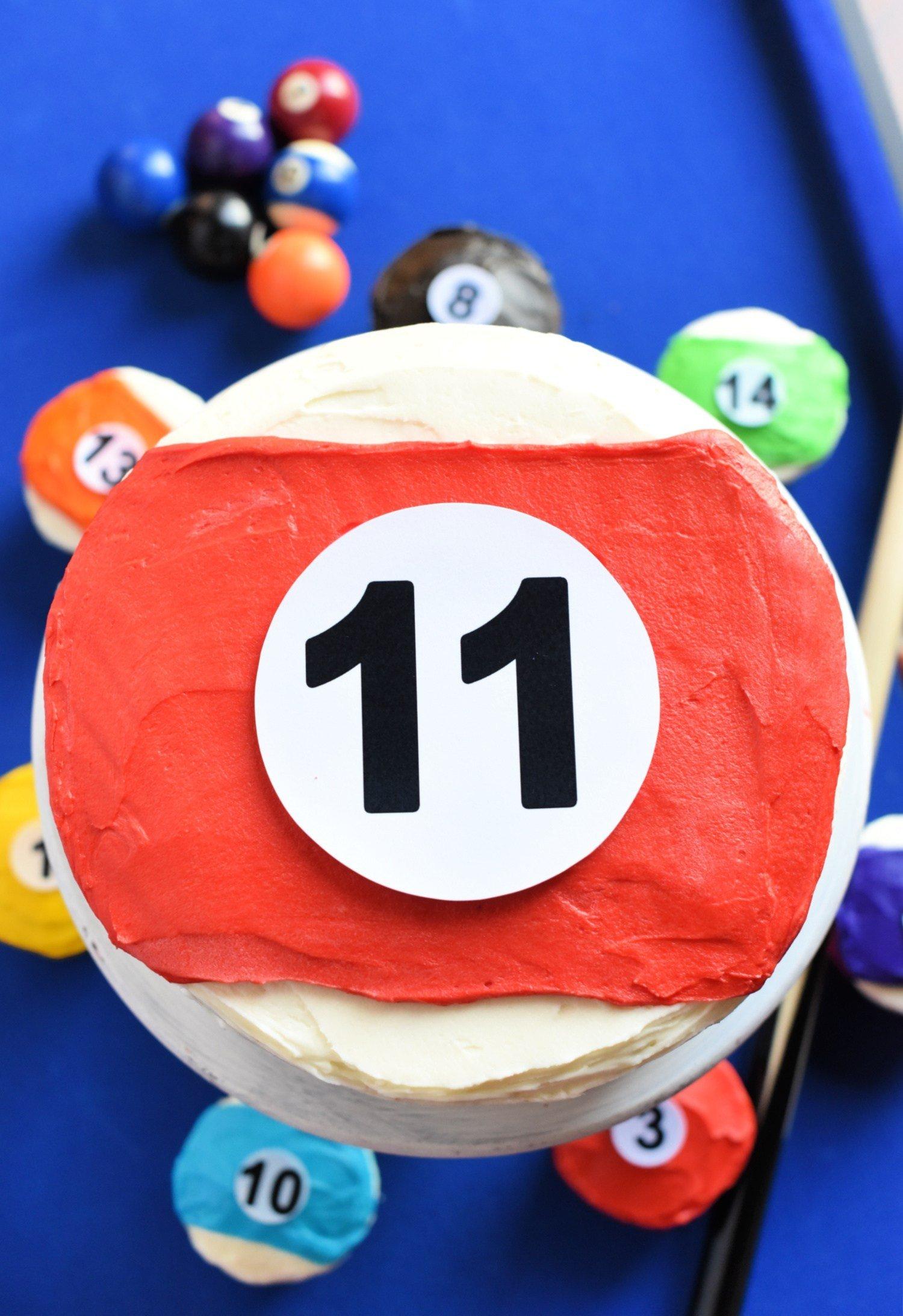 Pool Table Cake Idea