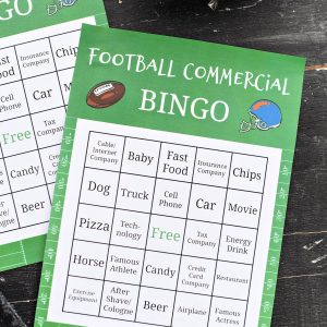 Superbowl Commercial Bingo Game