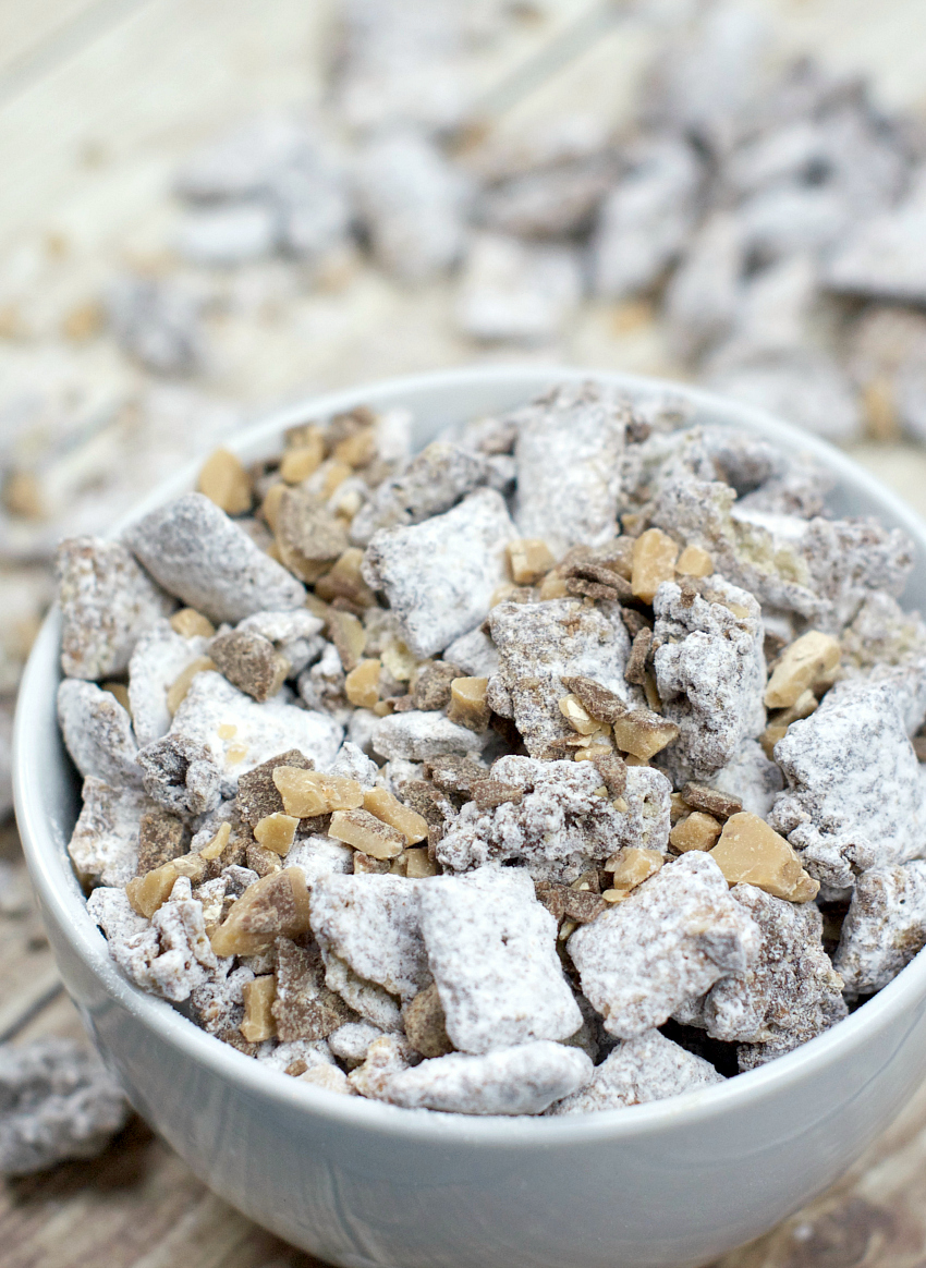 Muddy Buddies Caramel and chocolate