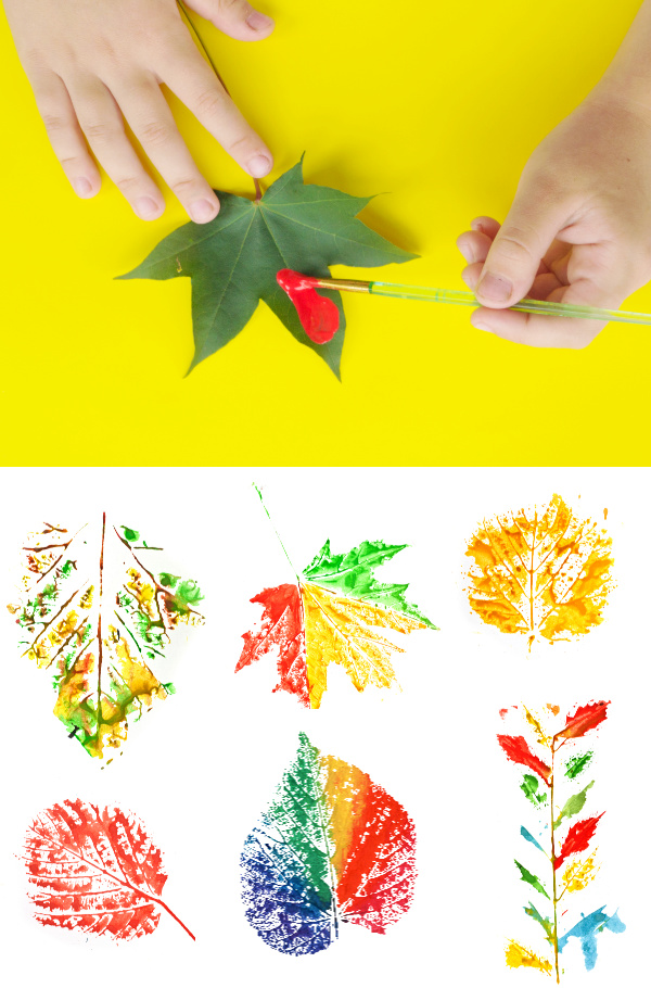 Rainbow Leaf Painting