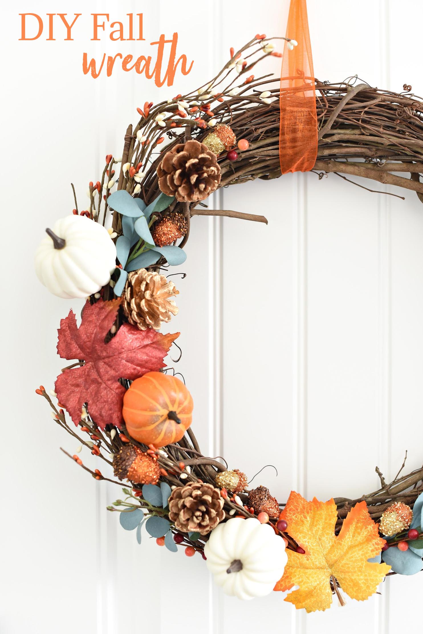 Easy DIY Fall Wreath to Hang on Your Front Door