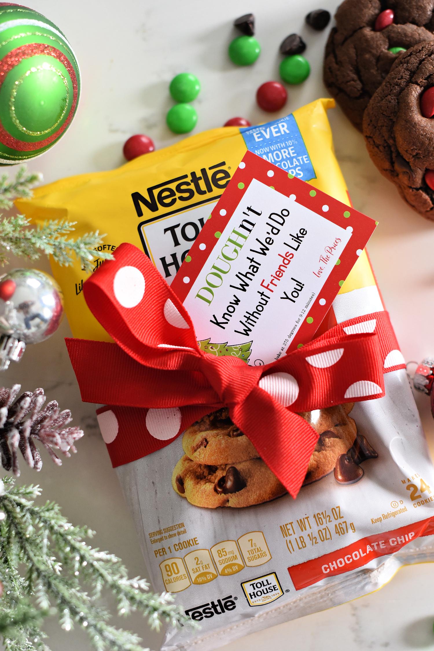 Easy Cookie Dough Holiday Neighbor Gift Idea