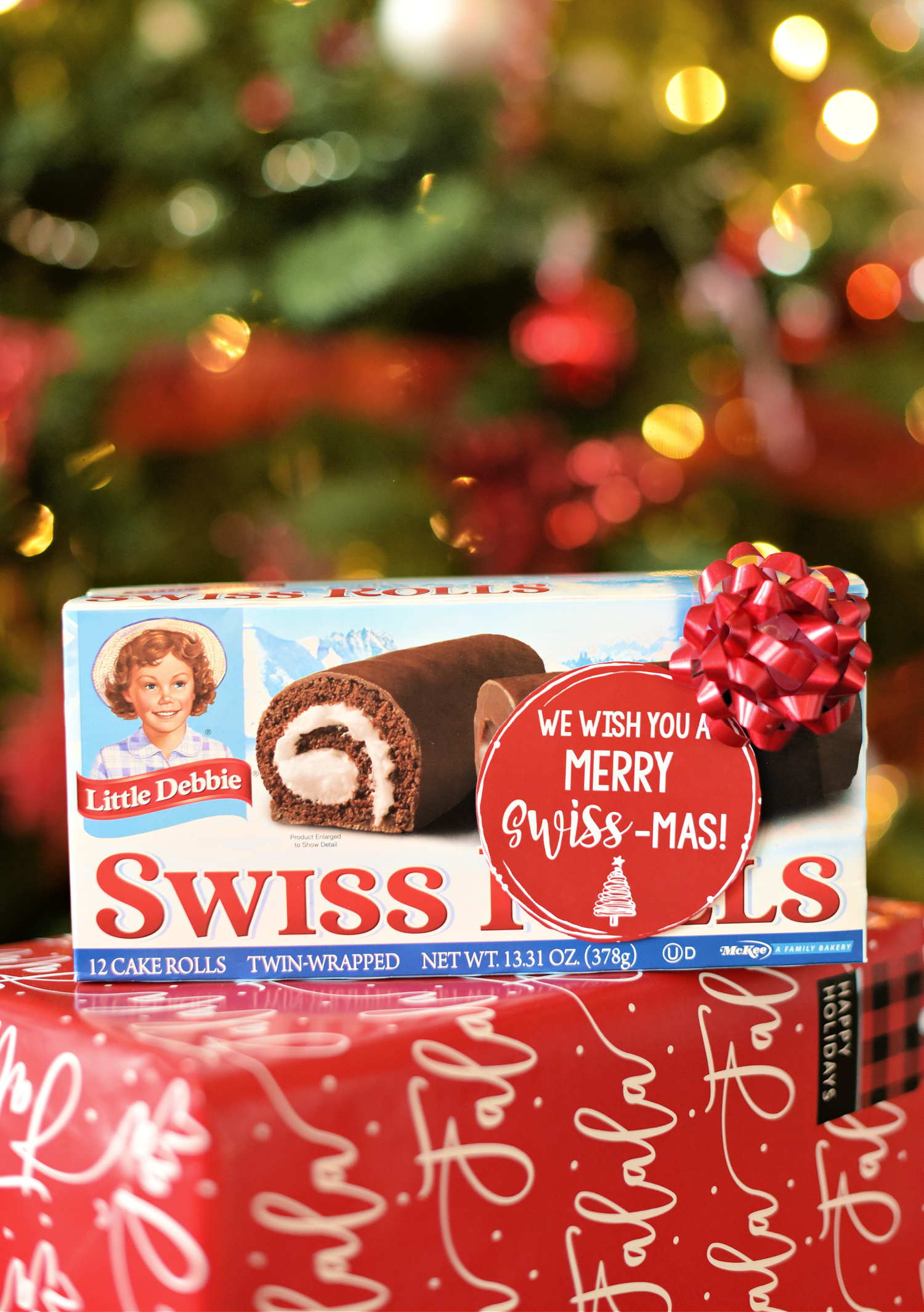 Easy Holiday Neighbor Gift: We Wish You a Merry Swiss-mas